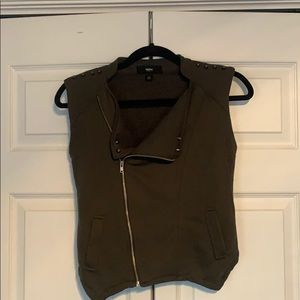 Army Green Cropped Vest